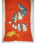 Fairy Penguins Phillip Island Linen Cotton Tea Towel - $13.27