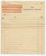 1900's Unused Dentist Bill For Professional Services Full Set of Teeth I... - $37.62