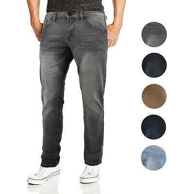 CS Men's Skinny Slim Fit Zip Fly Vintage Faded Wash Premium Denim Jeans