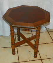 Oak Octagon Side Table / Lamp Table - $249.00