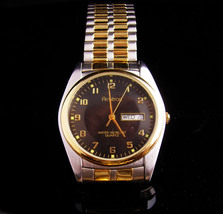 NICE Mens Amitron watch -  works great - vintage calendar wristwatch - b... - $75.00