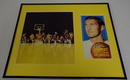 Jerry West Signed Framed 16x20 Photo Display LA Lakers - £92.86 GBP