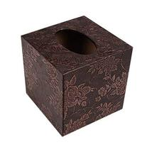 Gentle Meow Square Elegant Tissue Box Holder With Flower Carved Patterns... - €24,32 EUR