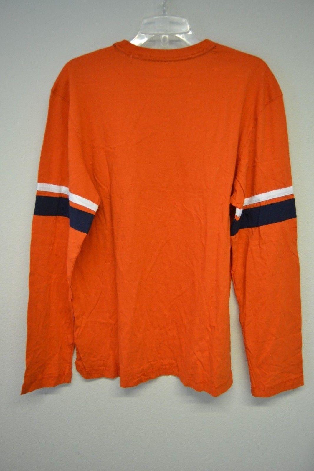 NFL Team Apparel Denver Broncos Orange Long Sleeve Graphic T-Shirt Sz L NWT image 5