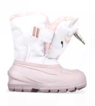 Cat & Jack Huxley Unicorn Toddler Girls ThermoLite Pink & White Snow Boots NEW image 5