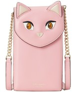 Kate Spade meow cat north south phone Leather crossbody ~NWT~ Pink - $126.72