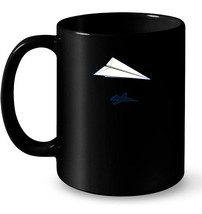 Paper Airplane Shadow F 14 Tomcat Ceramic Mug - $13.99+
