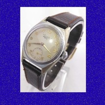 Superb Steel  Deco Everite 15 jewelled Swiss Wrist Watch 1959 - $79.97