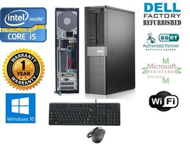 Dell Desktop Computer Intel Core i5 Windows 10 pro 64 250gb HD 4gb Ram - $404.90