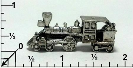 Train Engine Fine Pewter Figurine - Approx. 1 1/2 inches (T251)