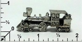 Train Engine Fine Pewter Figurine - Approx. 1 1/2 inches (T251) image 1