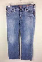 Silver Jeans Laura Crop Capri Pants Denim Women's Size 28 - $16.82