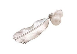 Set of 3 Feather Shape with Beads Beautiful Decoration Hair Pins Silver Style