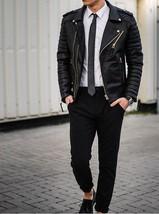 Mens Bespoke Biker Style Fashion Leather Jacket Real Cowhide Men Leather Jacket - $118.60+
