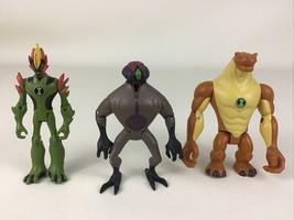 "Ben 10 Alien Force 3pc Lot Swampfire DNAlien Humungosaur 4"" Figure 2008 Bandai - $24.91"
