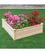 Wooden Square Garden Vegetable Flower Bed - £85.72 GBP