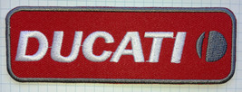 Ducati Biker Motorcycle Embroidered Cloth Iron On Patch   Aufnäher - $5.74