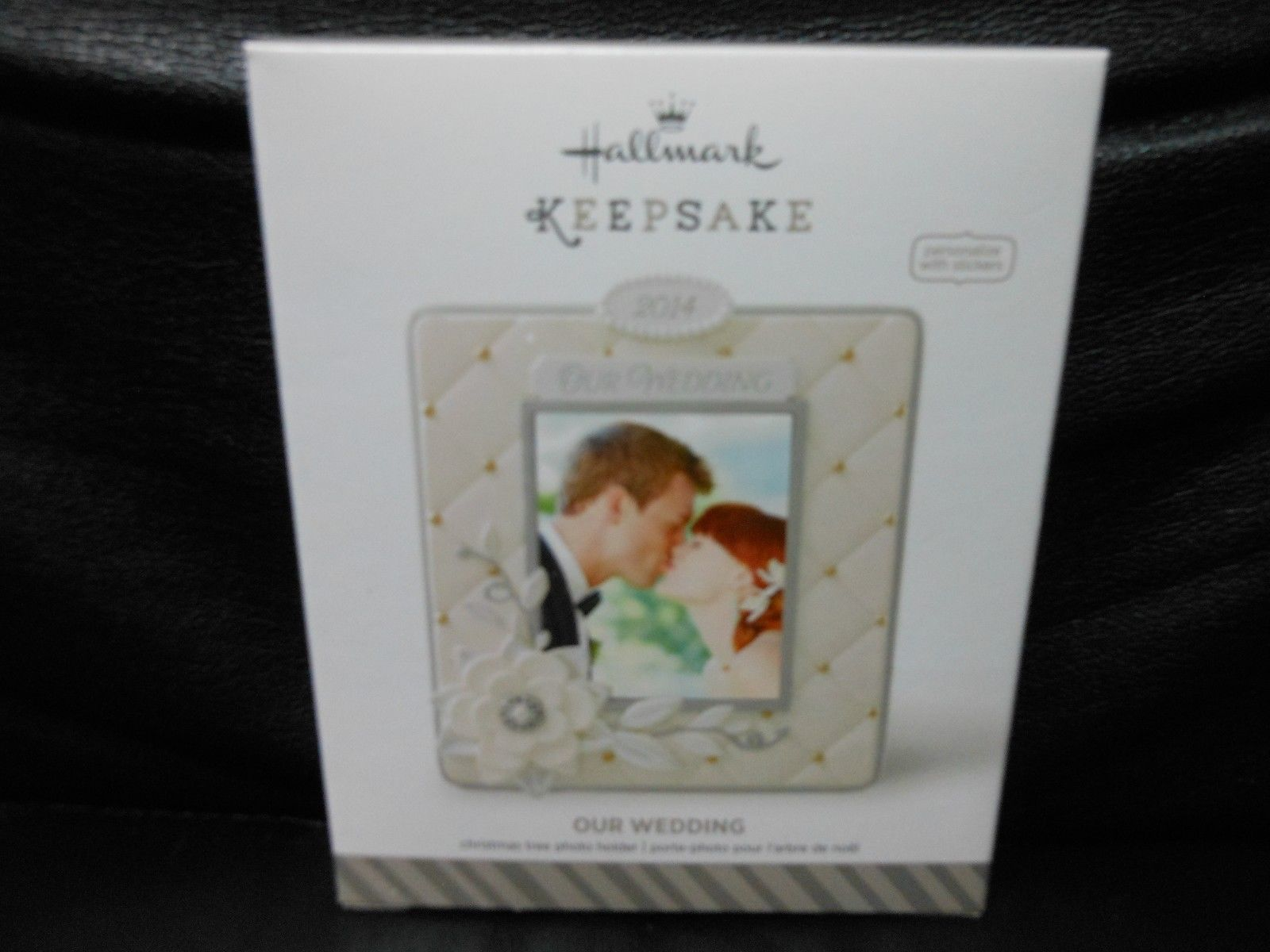 "Hallmark Keepsake ""Our Wedding"" 2014 Photo Holder Ornament NEW Stickers Included"