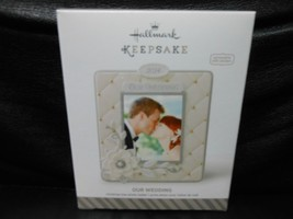 "Hallmark Keepsake ""Our Wedding"" 2014 Photo Holder Ornament NEW Stickers ... - $2.28"