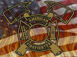 American Firefighter Style1 Vinyl Decal Sticker Graphic fire truck rescue - $11.20