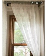 Project 62 Textured Sheer Curtain 54x95in Cream Color, Single Panel - $20.00