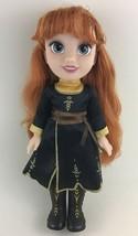 "Disney Princess Doll Frozen 2 II Anna 14"" Black Dress Red Hair Toy Jakks... - $24.70"