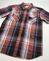 Men's Levi's Red | Black | Blue Plaid S/S Button Down Shirt - $69.00