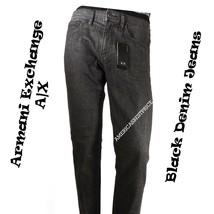 A|X ARMANI EXCHANGE NEW MEN'S STRAIGHT JEAN NWT SIZE 31 RETAIL $110 BLAC... - $44.95