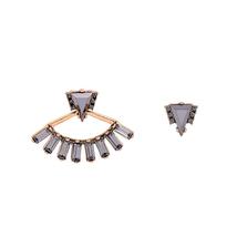Acrylic Fan Shape Vintage Earrings Personalized Punk Stud Earrings Jewelry  - $5.77