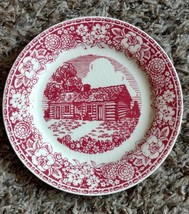 Homer Laughlin Early American Homes Lincoln's Home 1940 USA plate - $23.65