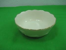 Vintage Lenox Ivory Porcelain Ceramic Bowl Candy Nut Dish Gold Trim Intr... - $11.26