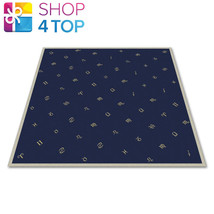 TAROT CLOTH ASTROLOGY VELVET EMBROIDED BLUE YELLOW LO SCARABEO 80X80 CM NEW - $19.44
