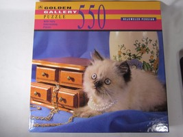 Golden Gallery Puzzle Bejeweled Persian Cat 550 Piece - $9.49