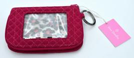 Vera Bradley Iconic Jen Zip Id Passion Pink Wallet - $22.99