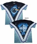 Pink Floyd Dark Side of the Moon Pyramid Tie Dye T-Shirt Band Tee S-M-L-... - $25.95