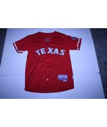 Youth Texas Rangers Yu Darvish YL Embroidered Jersey (Red) Majestic - $23.36
