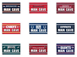 NFL 3'x5' Team Flag 1 Sided MAN CAVE Image Select Team From Drop Down - $19.95+