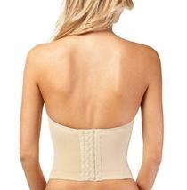 Women's Strapless Padded Push Up Shapewear Slimming Corset Beige #2052 - 38B image 3