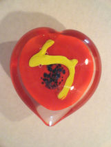 Red Heart Dynasty Gallery Glass Paperweight Heirloom Collectible - $19.95