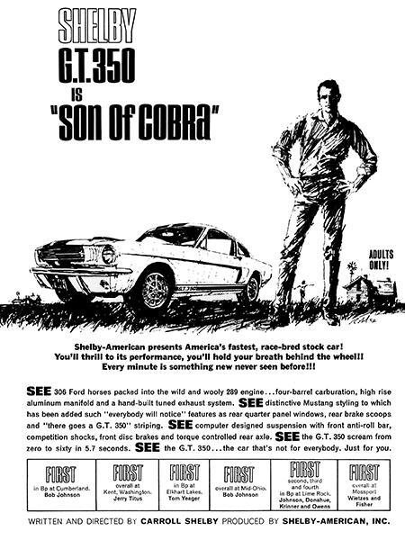 Primary image for 1965 Ford Shelby GT 350 Cobra - Son Of Cobra - Promotional Advertising Poster