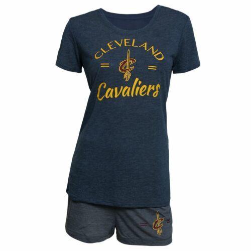 Women's Cleveland Cavaliers Principle Shorts Set NBA Sleepwear Tee Shirt Pajamas