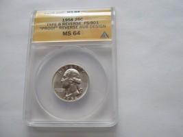 1958 , Washington Quarter , Type B Reverse , FS-901 , Proof ,  ANACS , M... - $59.40