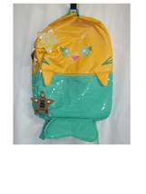 """MEOWGICAL PURRMAID 16"""" KIDS BACKPACK NWT YELLOW/BLUE WITH SEQUINS:B19-5 - $19.99"""