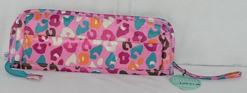 Room It Up Brand TCAE6221 Pink and Turquoise Leopard Print Flat Iron Case