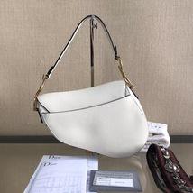 NEW AUTH Christian Dior 2019 White Medium Saddle Trotter Saddle Shoulder Bag image 5