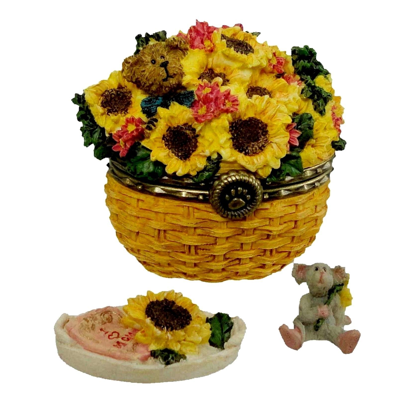 "Primary image for Boyds Treasure Box ""Edmund's Sunny Basket w/Potter McNibble"" #82537- New- 2004"
