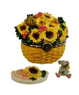 "Boyds Treasure Box ""Edmund's Sunny Basket w/Potter McNibble"" #82537- New... - $24.99"
