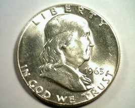 1963 Franklin Half Dollar Nice Uncirculated Nice Unc. Nice Original Coin - $17.00
