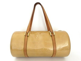 Authentic LOUIS VUITTON Monogram Petent Leather Beige Vernis Bedford Han... - $161.50