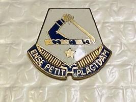 US Military Massachusetts National Guard Insignia Pin - Ense Retit Placidam - $10.00
